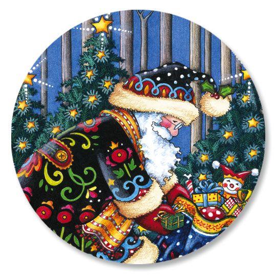 Mary's Woodland Christmas Envelope Seals
