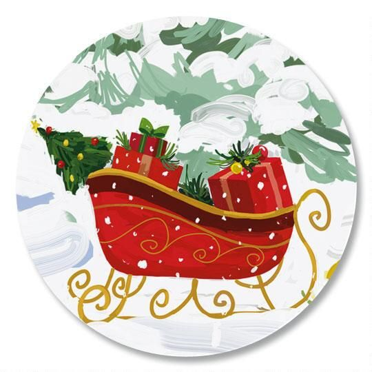 White Christmas Envelope Seals | Colorful Images