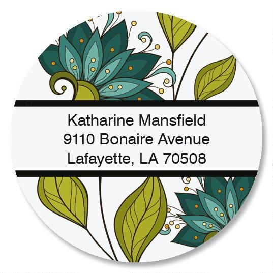 Unique Lotus Round Address Labels