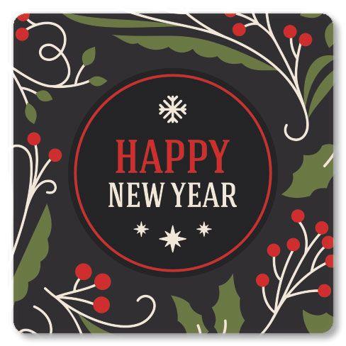 Happy New Year Envelope Seals