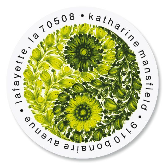 Harmony Round Address Labels