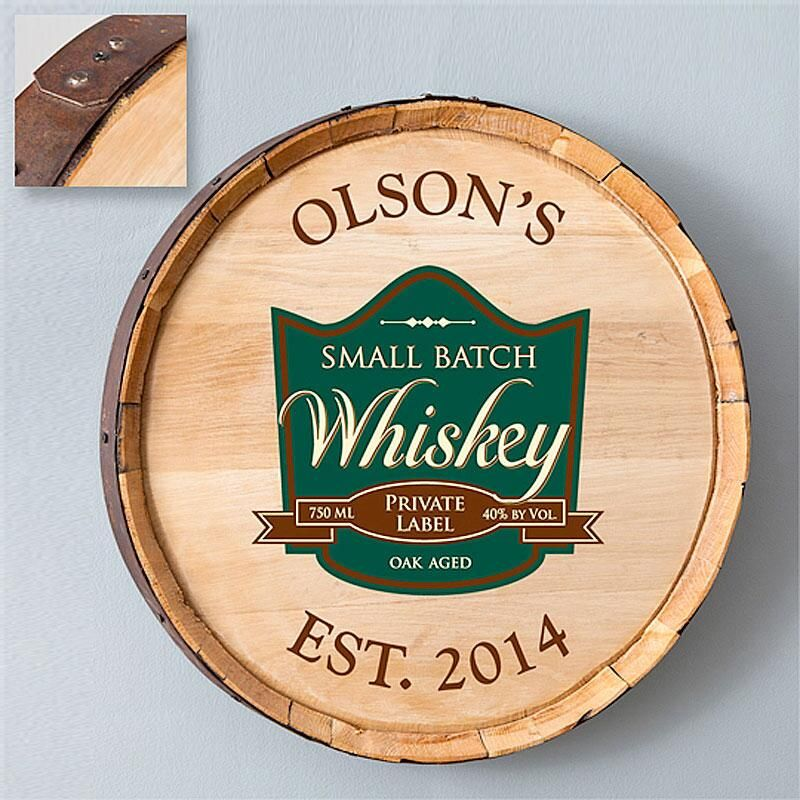 Private Label Whiskey  Personalized Barrel Sign