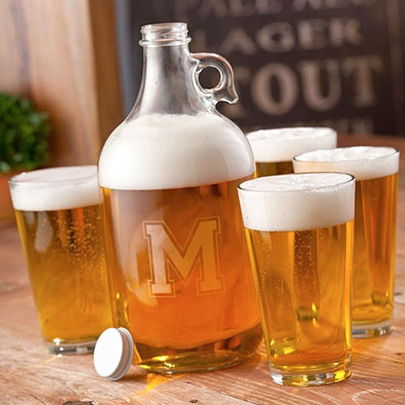 Beer Personalized Growler Set