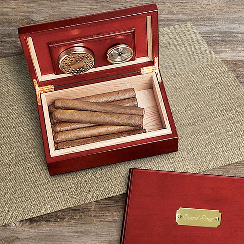 Cherry Wood Personalized Humidor