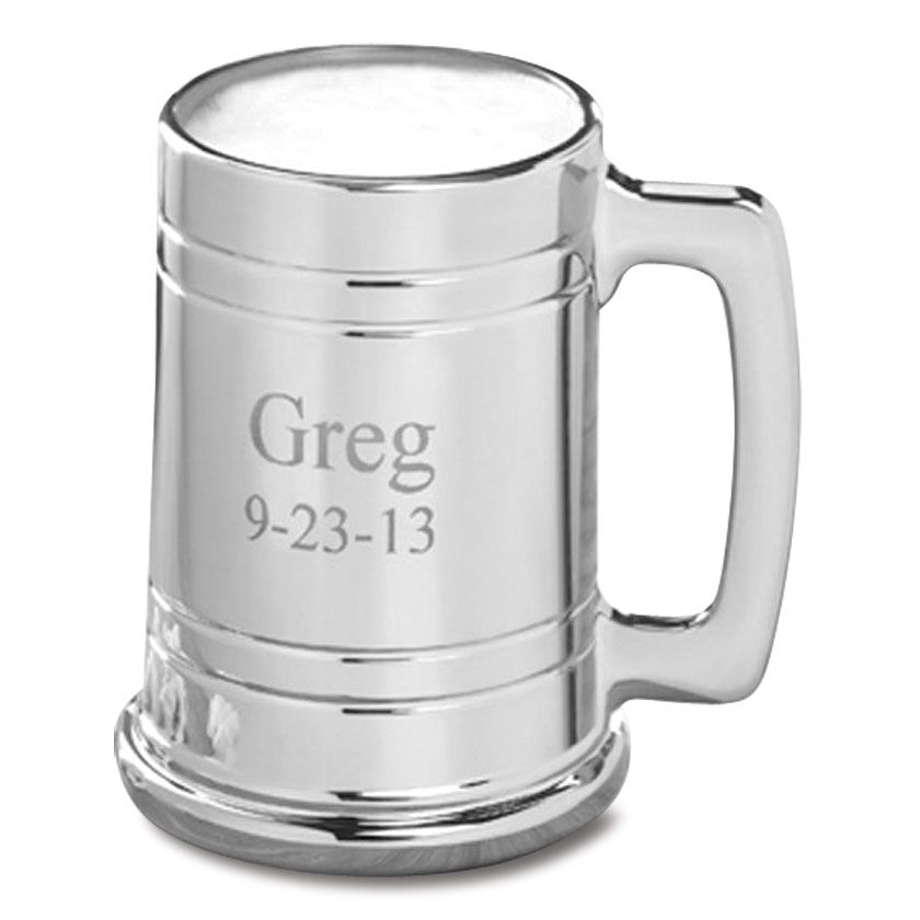 Gray Metal Personalized Mug