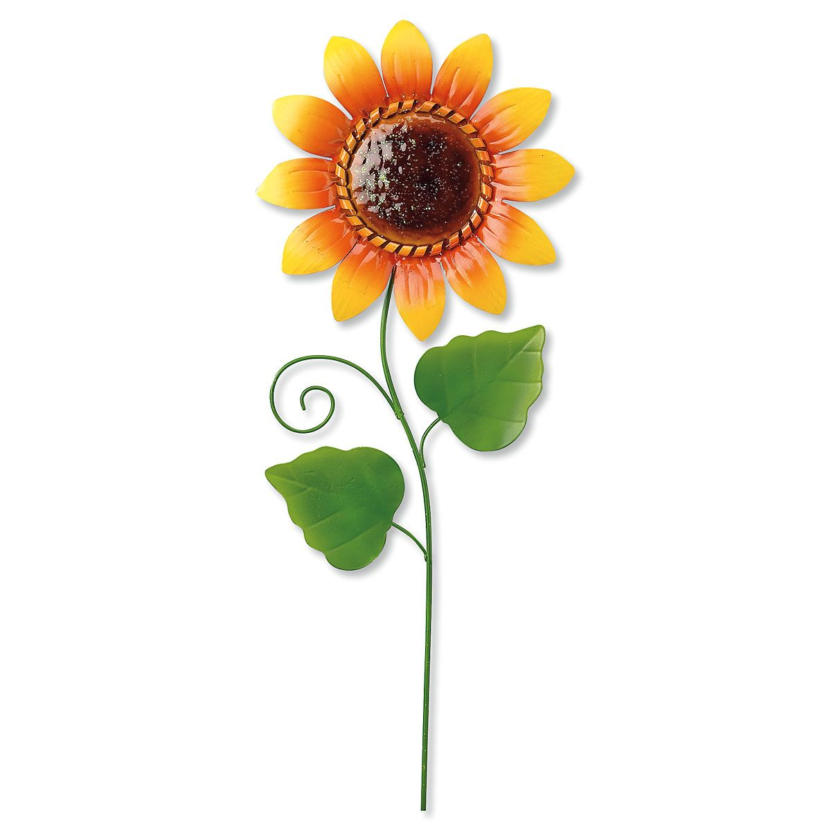 Metal Sunflower Stake Colorful Images