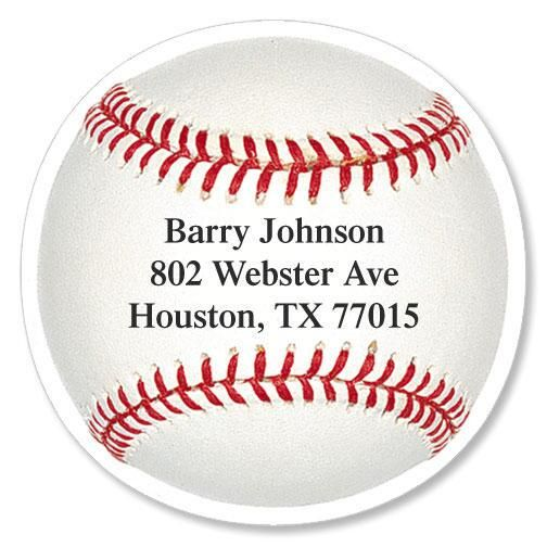 Baseball Diecut Address Labels