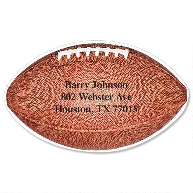 Football Diecut Return Address Labels