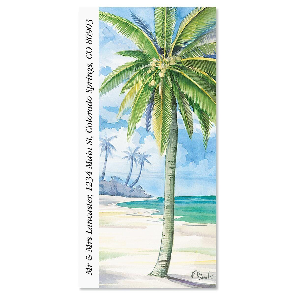 Palm Island Oversized Return Address Labels