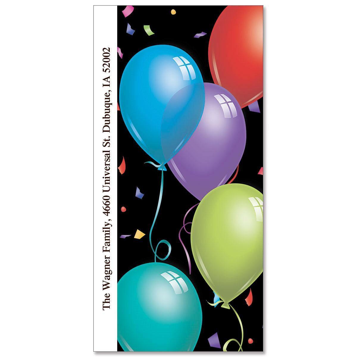 Big Birthday Oversized Return Address Labels