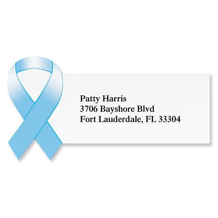 Awareness Ribbon Diecut Return Address Labels