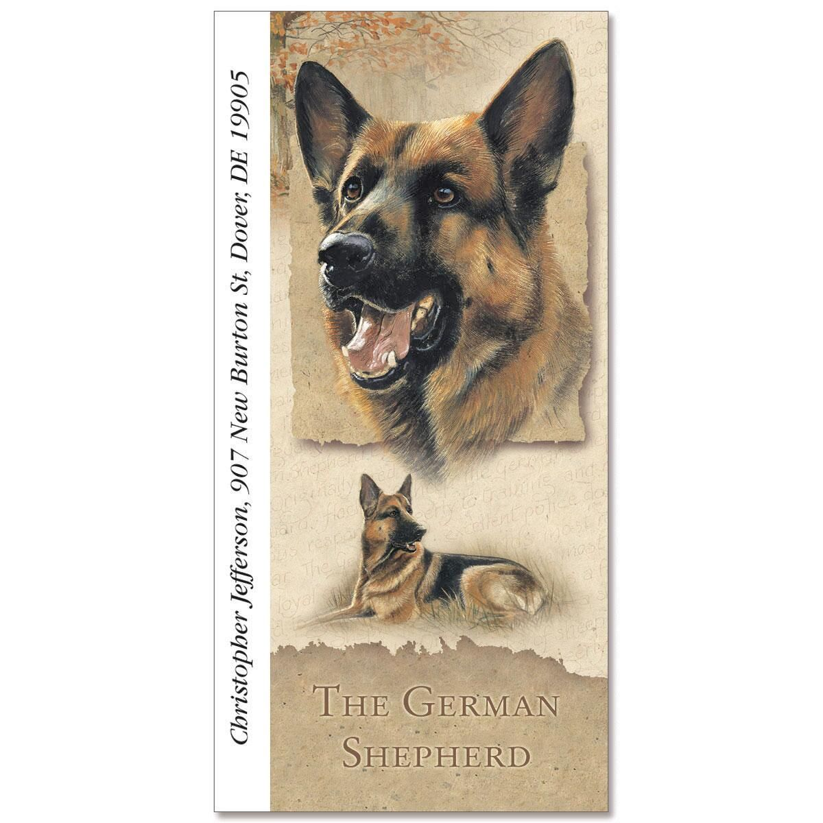 German Shepherd Oversize Address Labels