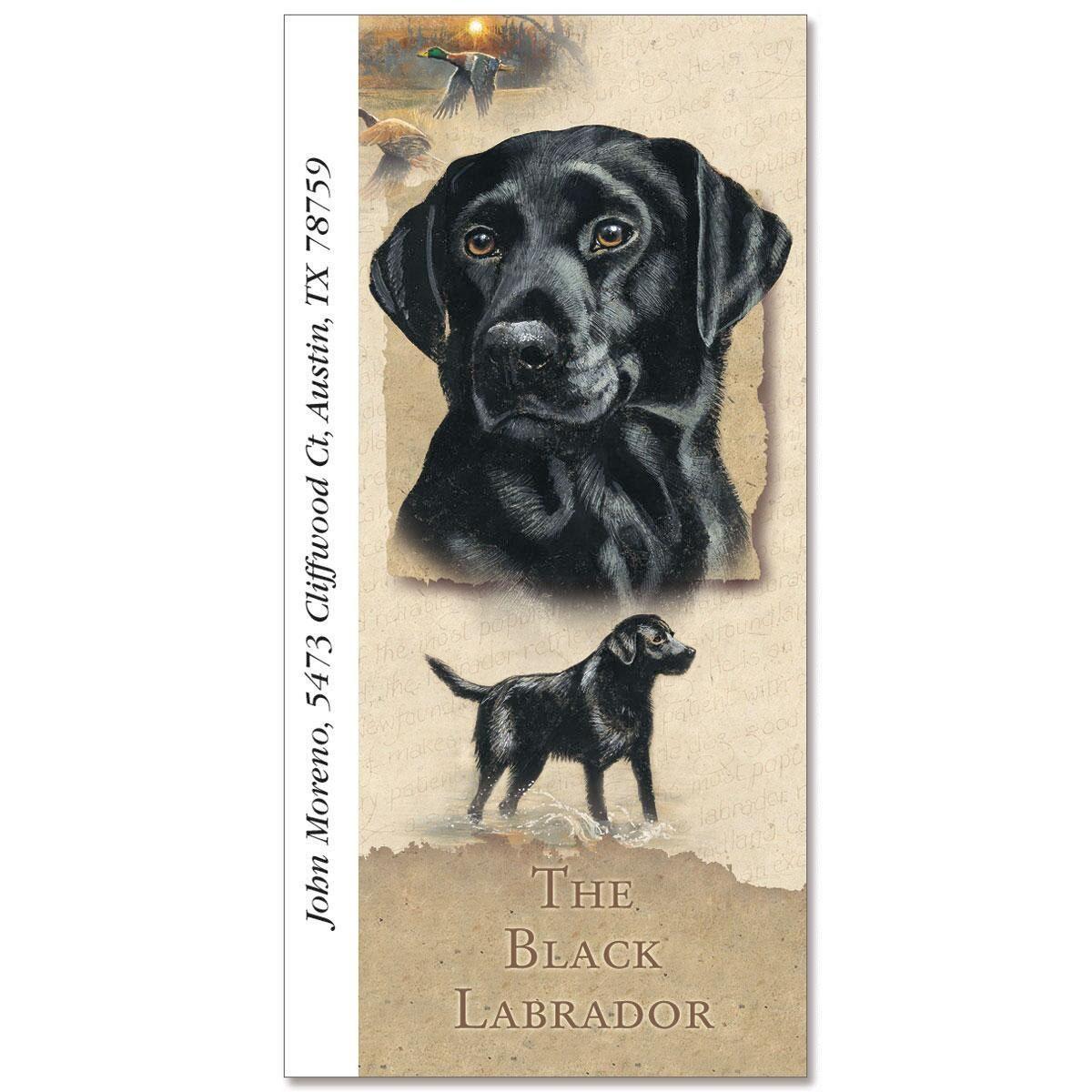 Black Labrador Oversized Address Labels