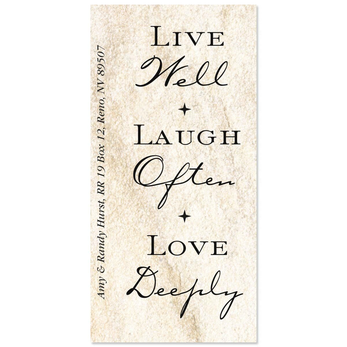 Live, Love, Laugh Oversized Return Address Labels