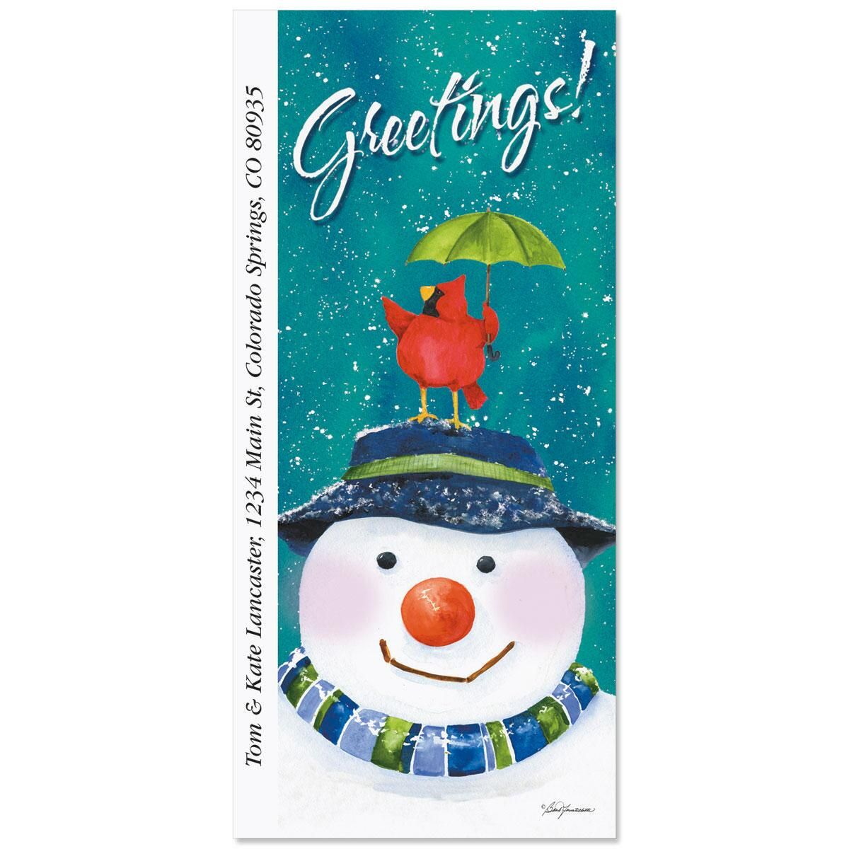 Snow in the Forest Supersized Address Labels