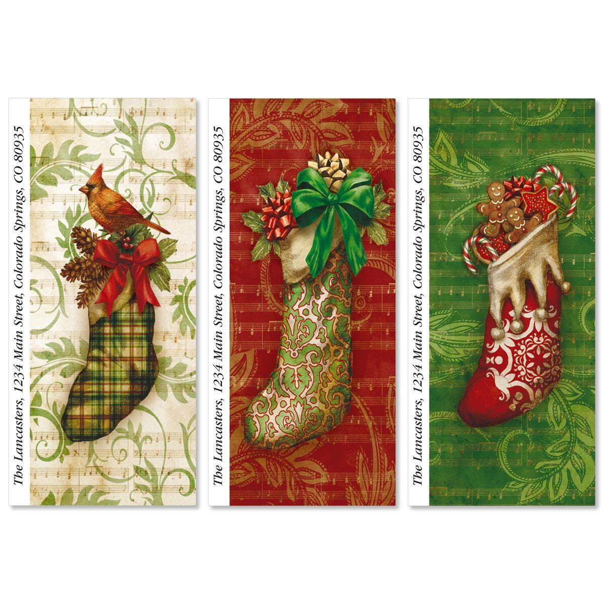 Christmas Stockings Supersized Return Address Labels