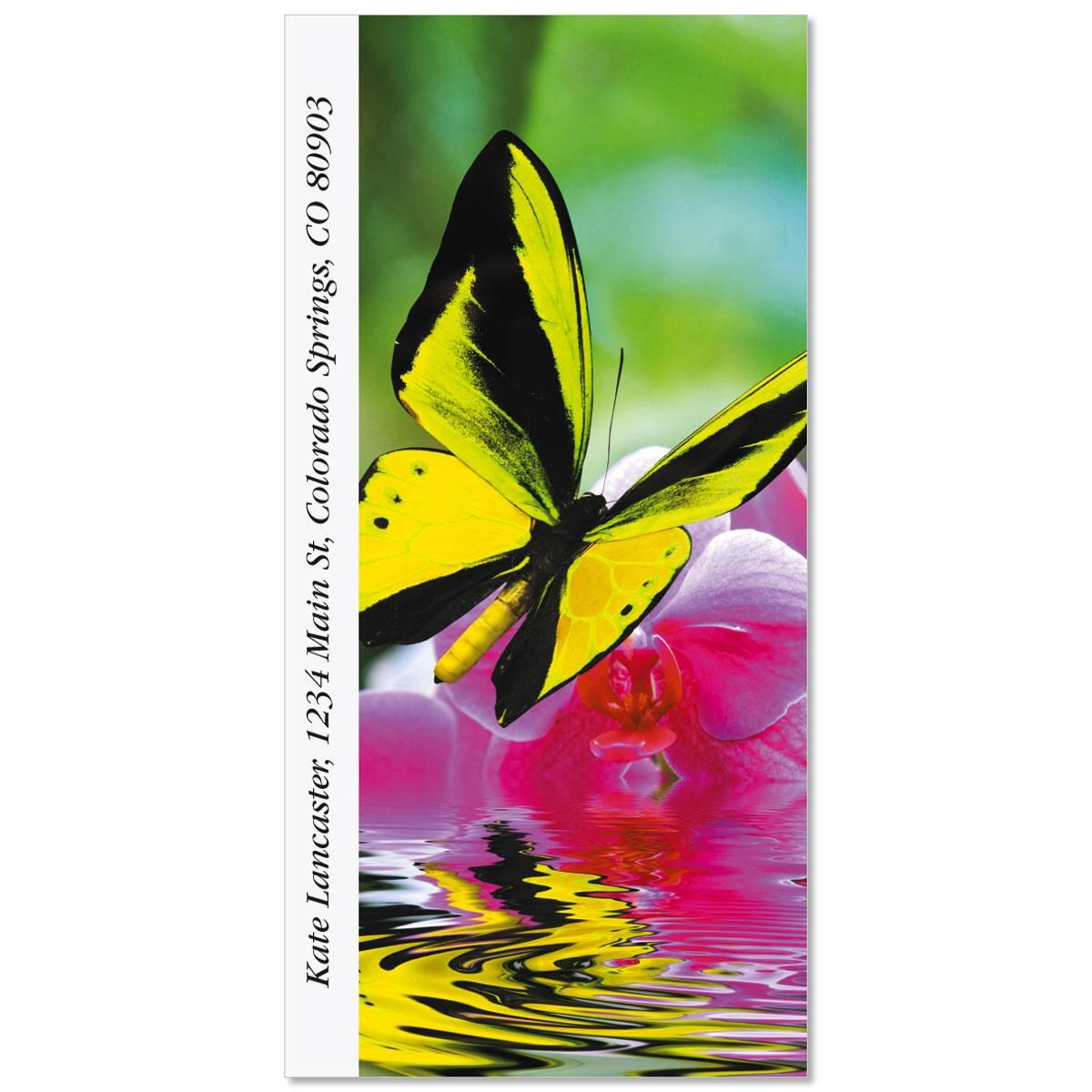 Milkweed Butterfly Oversized Return Address Labels