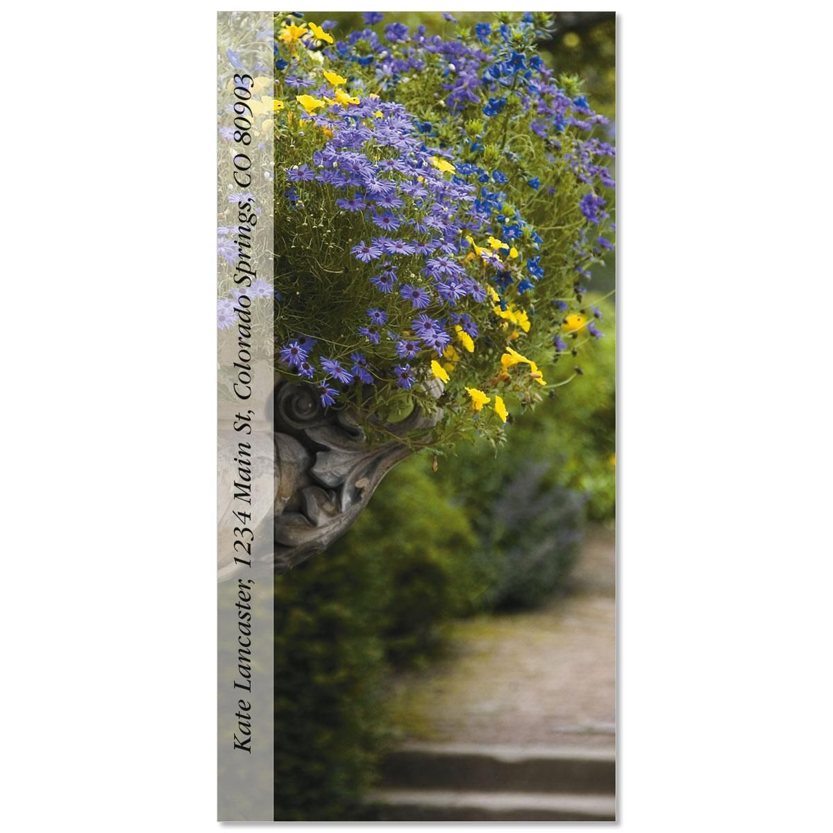 English garden plant labels - English Garden Path Oversized Address Labels