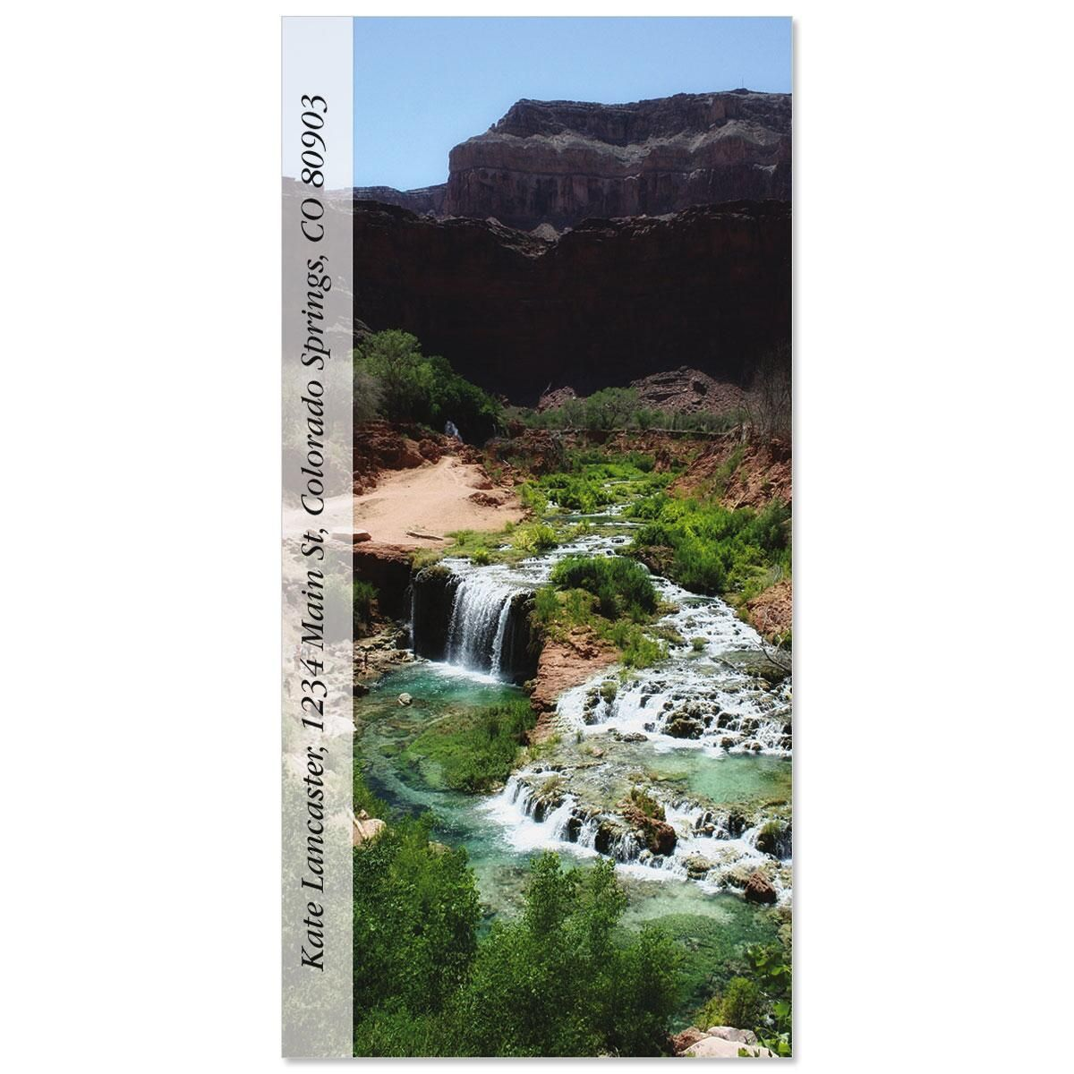 Navajo Falls  Oversized Address Labels