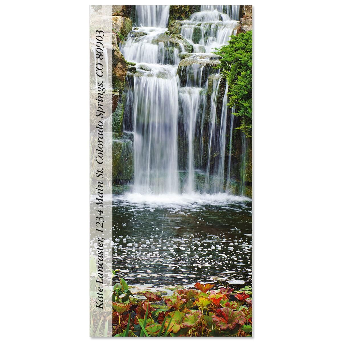 Kew Gardens Waterfall  Oversized Return Address Labels