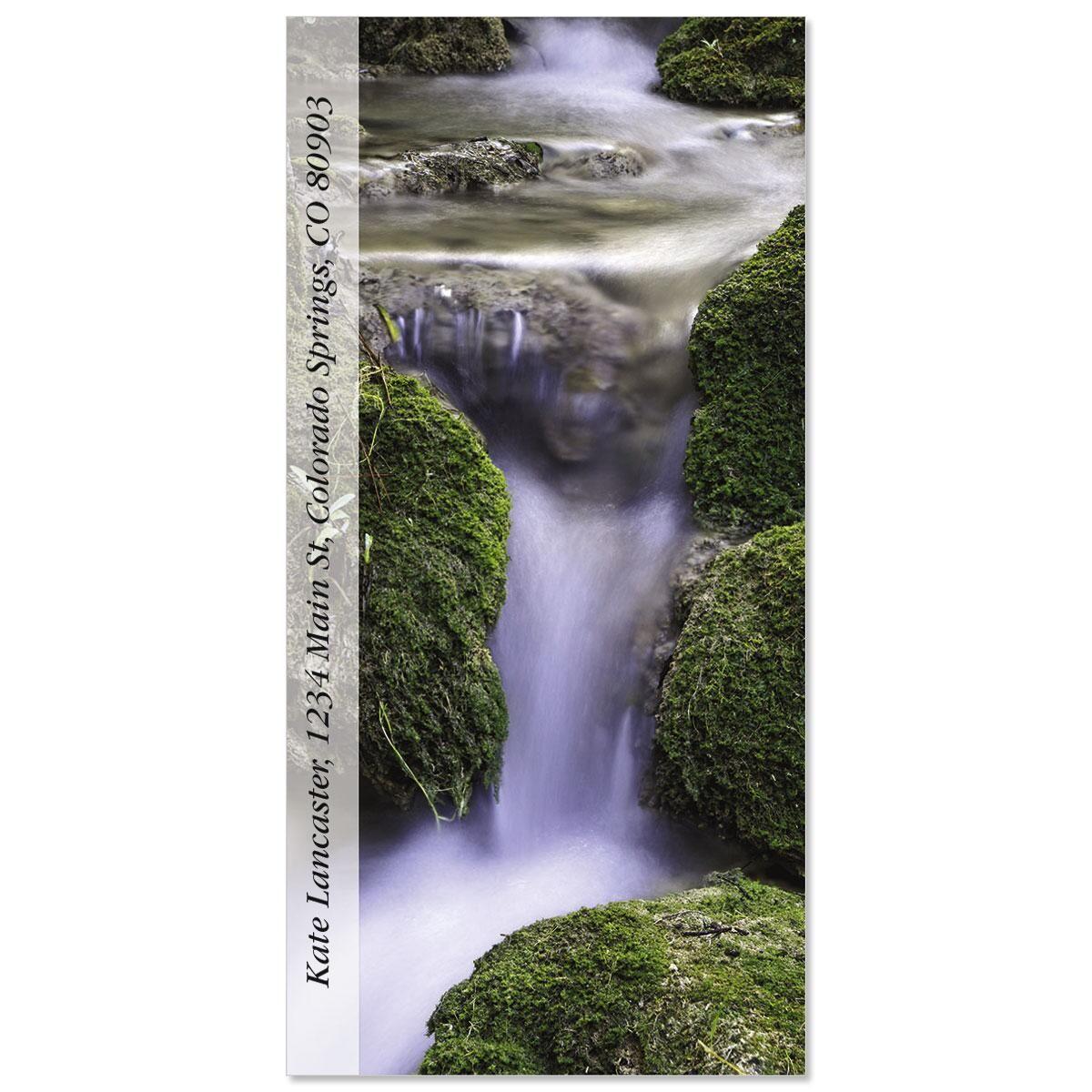 Rio Waterfall  Oversized Address Labels
