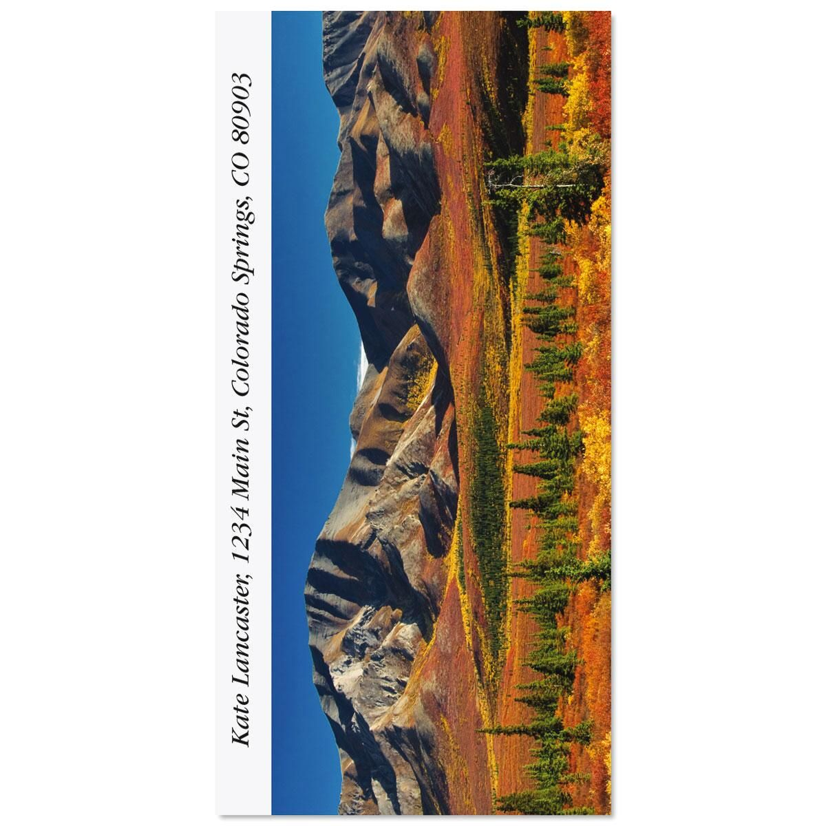 Autumn In Denali Oversized Return Address Labels