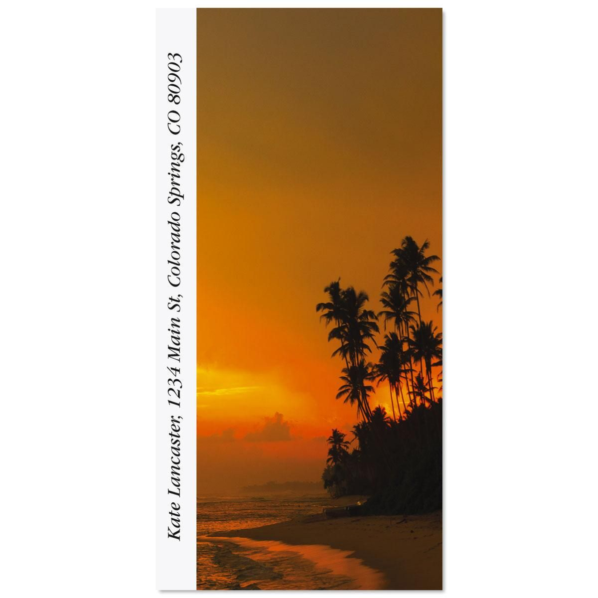 Sunset In The Tropics Oversized Address Labels