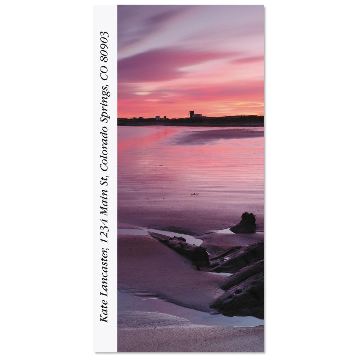Sunset At Blythe Beach Oversized Return Address Labels