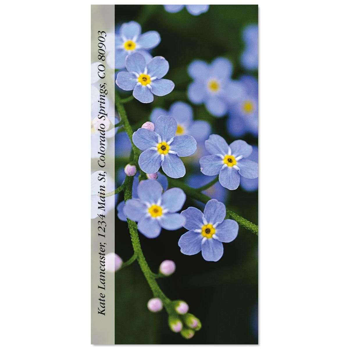 Meadow Blue Oversized Address Labels