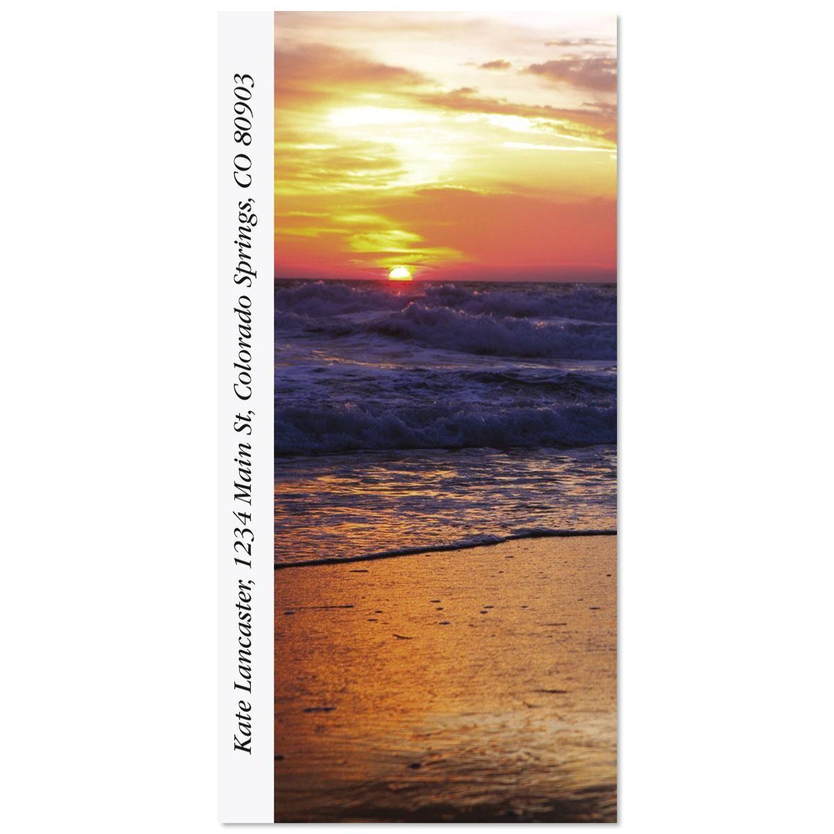 Sunrise On The Shore Oversized Return Address Labels
