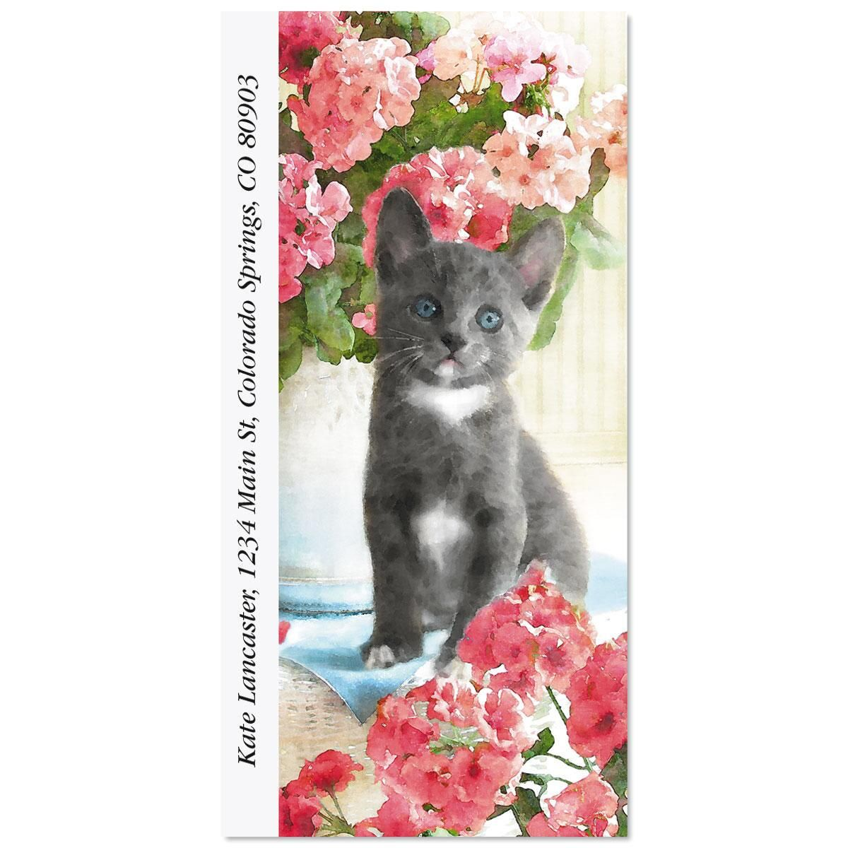 Purrfectly Feline Oversized Return Address Labels