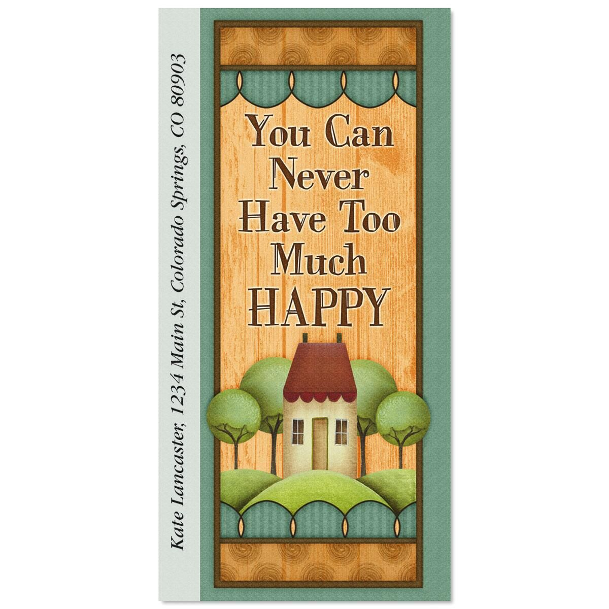 Happy Home Oversized Return Address Labels