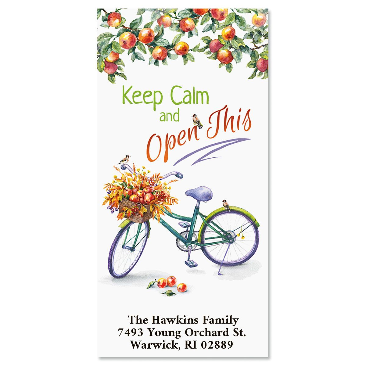 Keep Calm Oversized Address Labels