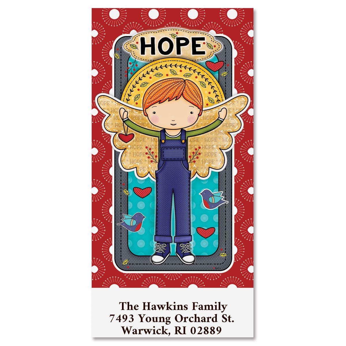 Hope Angel Oversized Return Address Labels
