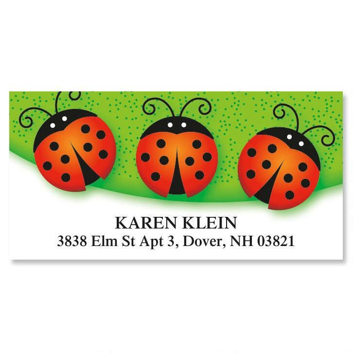 Ladybug Deluxe Return Address Labels