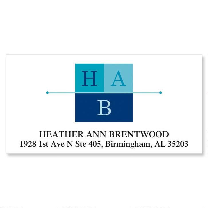 3-Initials Deluxe Address Labels