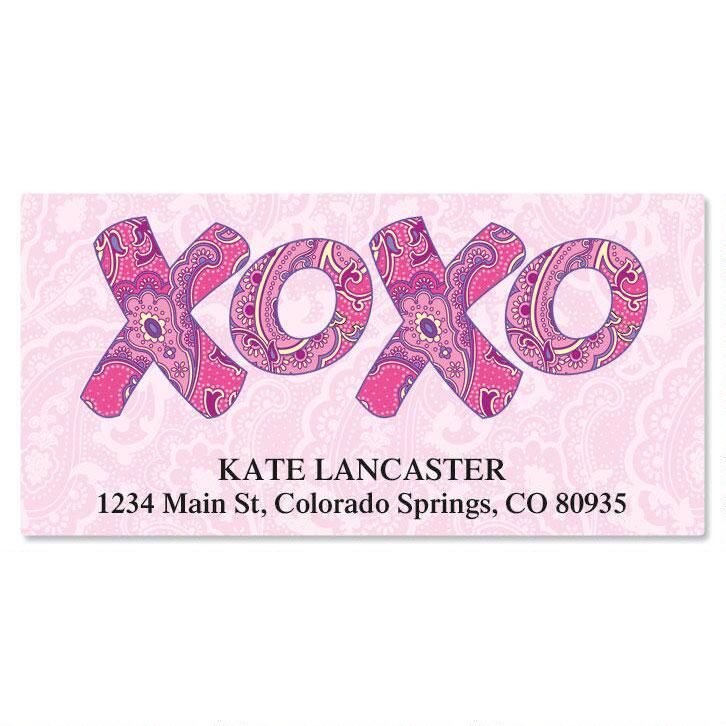 XOXO Deluxe Return Address Labels