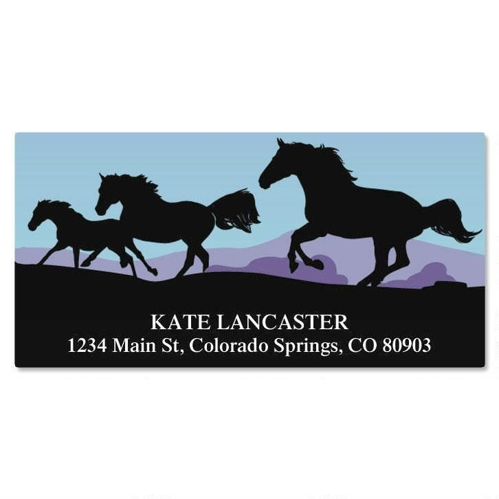 Horse Silhouette Deluxe Address Labels