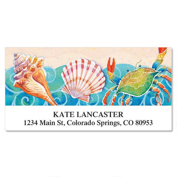Sand and Sea Deluxe Return Address Labels