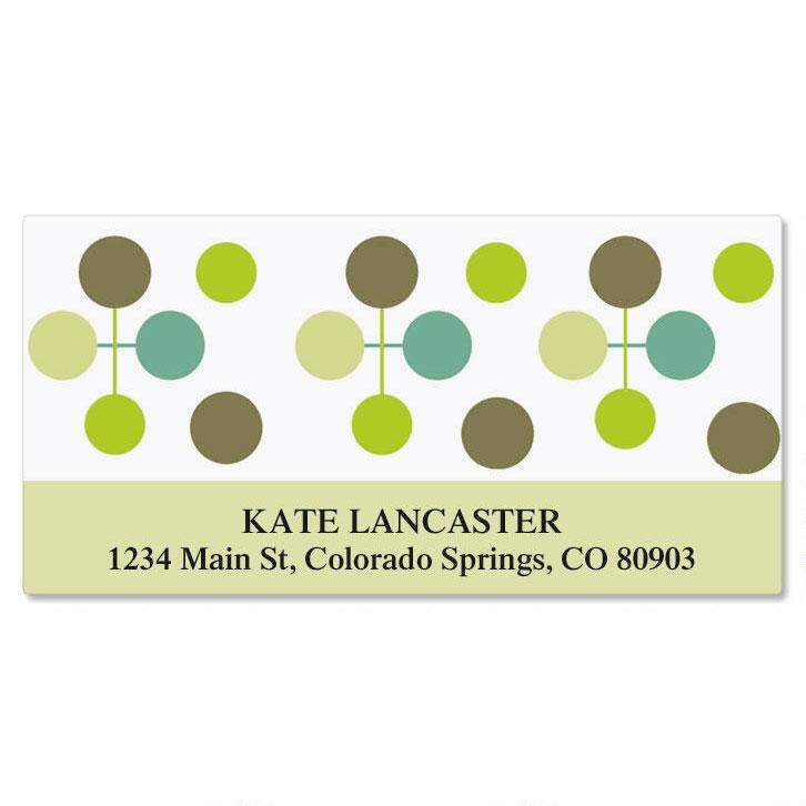 Citron Molecule Deluxe Return Address Labels