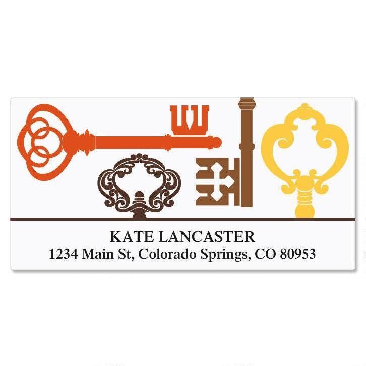 Brass Key Deluxe Address Labels