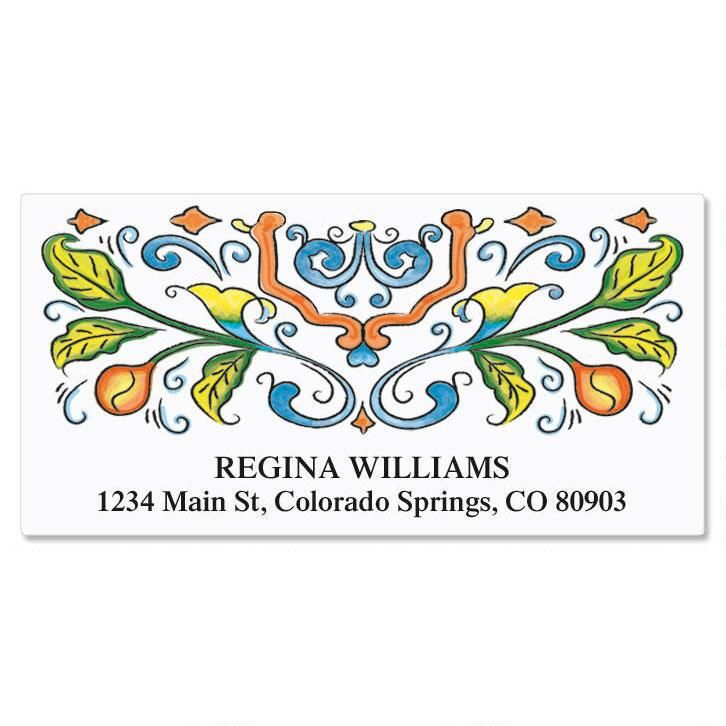 Castillo Deluxe Return Address Labels