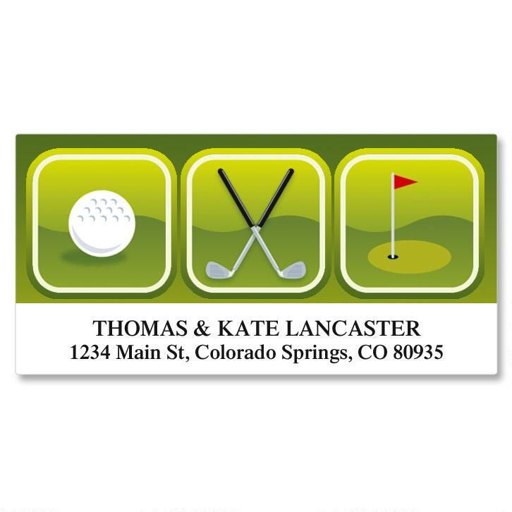On The Green Deluxe Return Address Labels