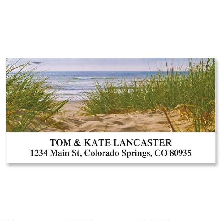 Beach Path Deluxe Return Address Labels Colorful Images