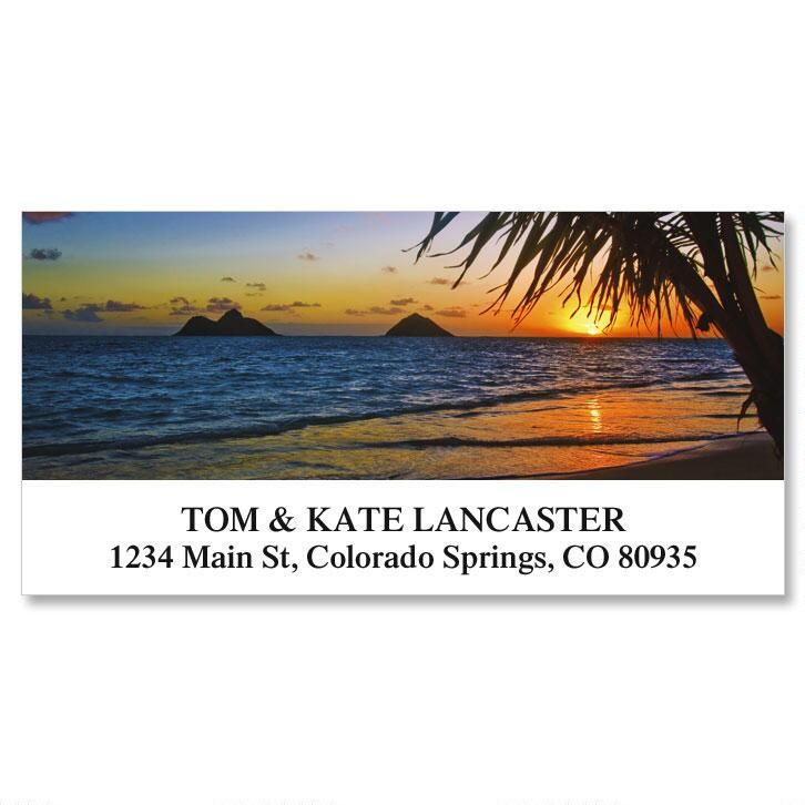 Lanikai Beach Deluxe Return Address Labels