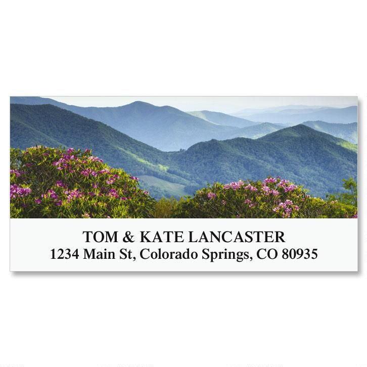 Blue Ridge Mountains Deluxe Return Address Labels