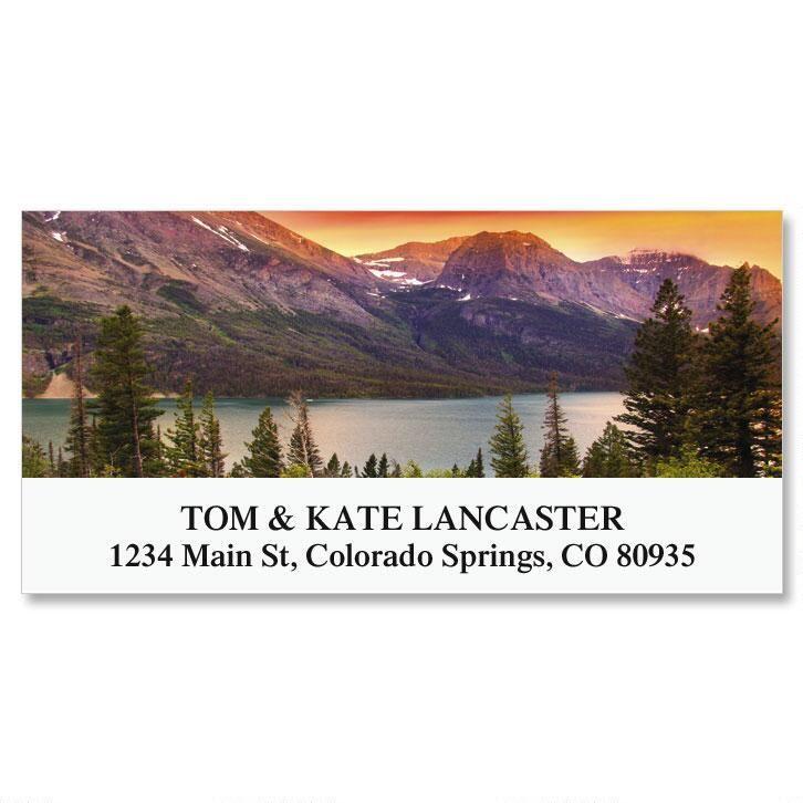 Glacier National Park Deluxe Address Labels
