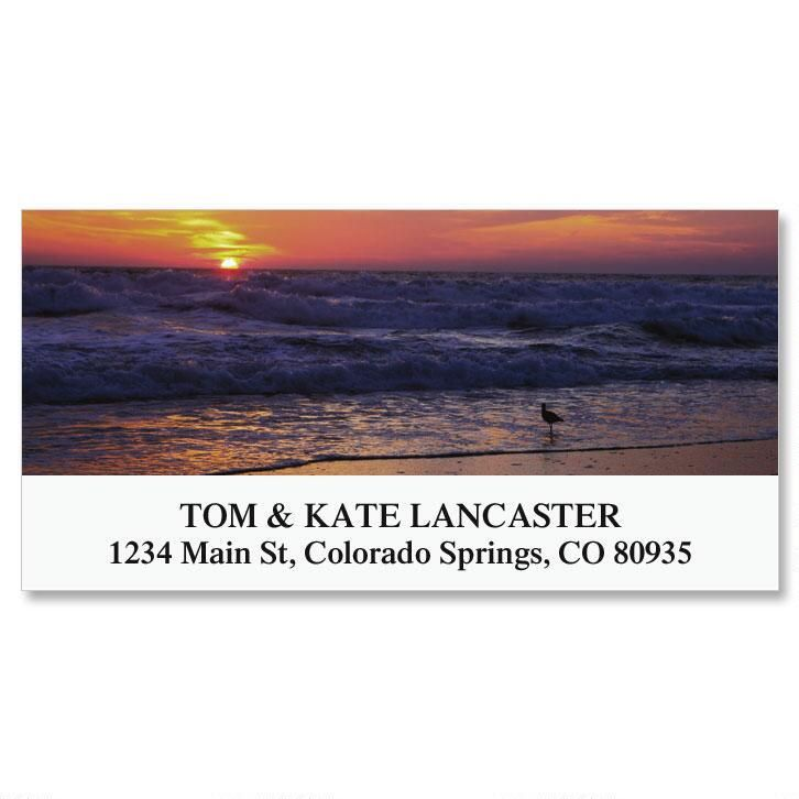 Sunrise On The Shore Deluxe Address Labels