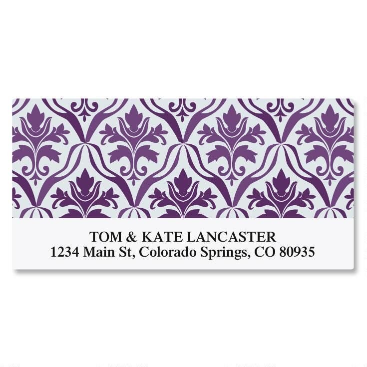 Aubergine Elegance Deluxe Return Address Labels