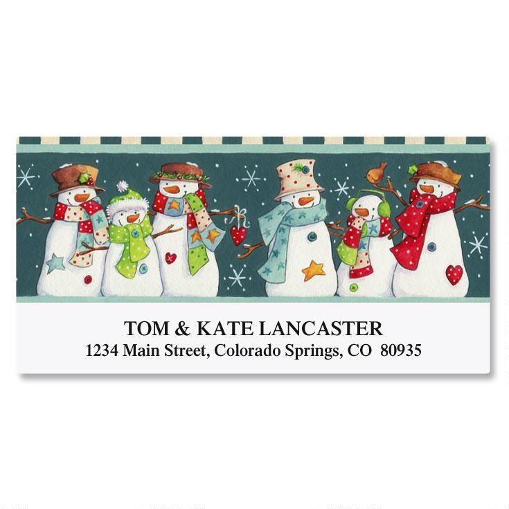 Snow Squad Deluxe Return Address Labels